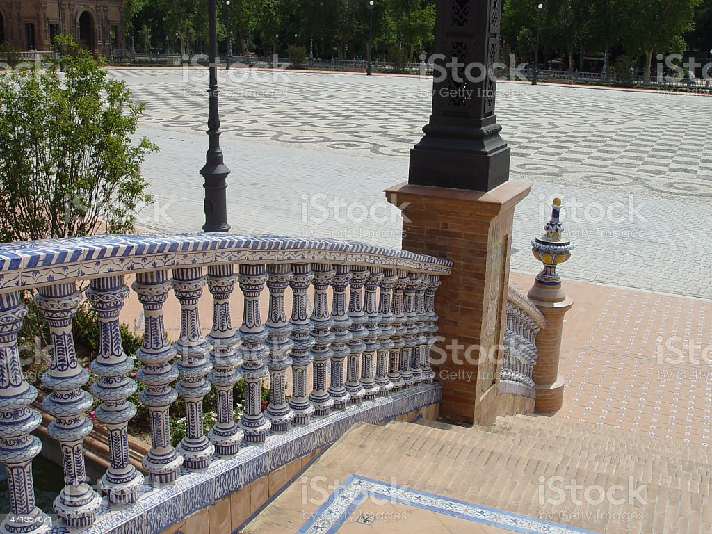 Plaza de Espana, Sevilla royalty-free stock photo