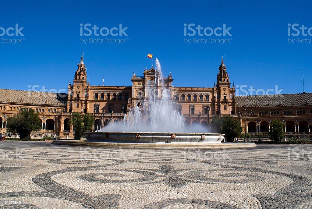 Plaza de Espana, Seville royalty-free stock photo