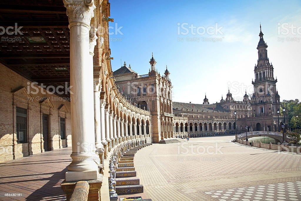 Plaza de Espana, Seville. Spain. royalty-free stock photo