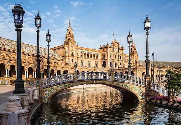 Plaza de Espana. Seville. Spain. Famous square Plaza de Espana in Seville. Spain. seville stock pictures, royalty-free photos & images