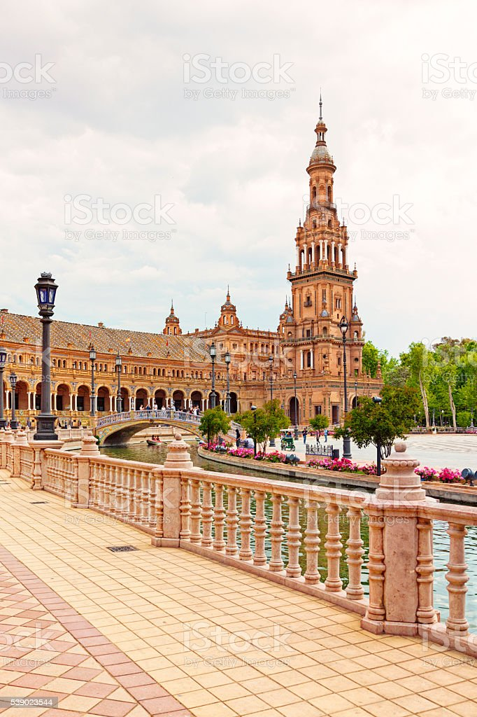 Plaza de Espana, Seville, Spain stock photo