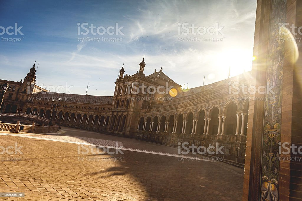 Plaza de Espana, Seville - The typical tiles stock photo