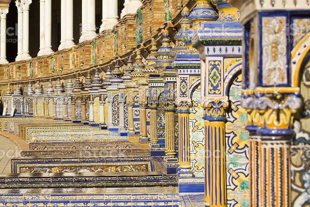 Plaza de Espana Spanish Tiles royalty-free stock photo