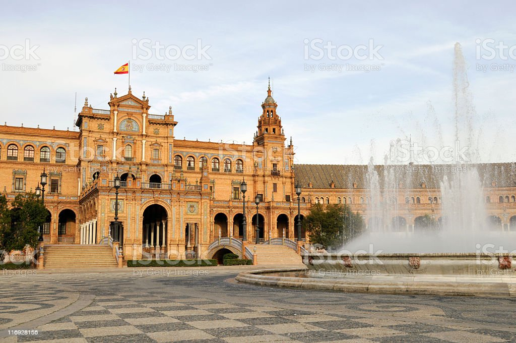 Plaza de Espana,Seville royalty-free stock photo