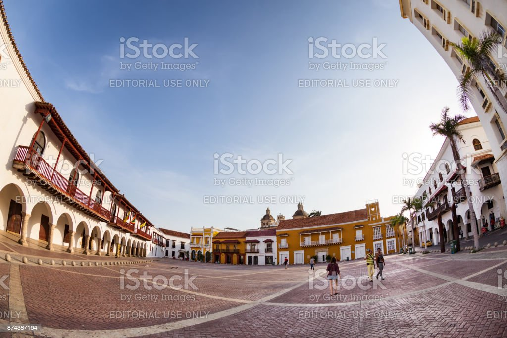 Plaza de la Aduana stock photo