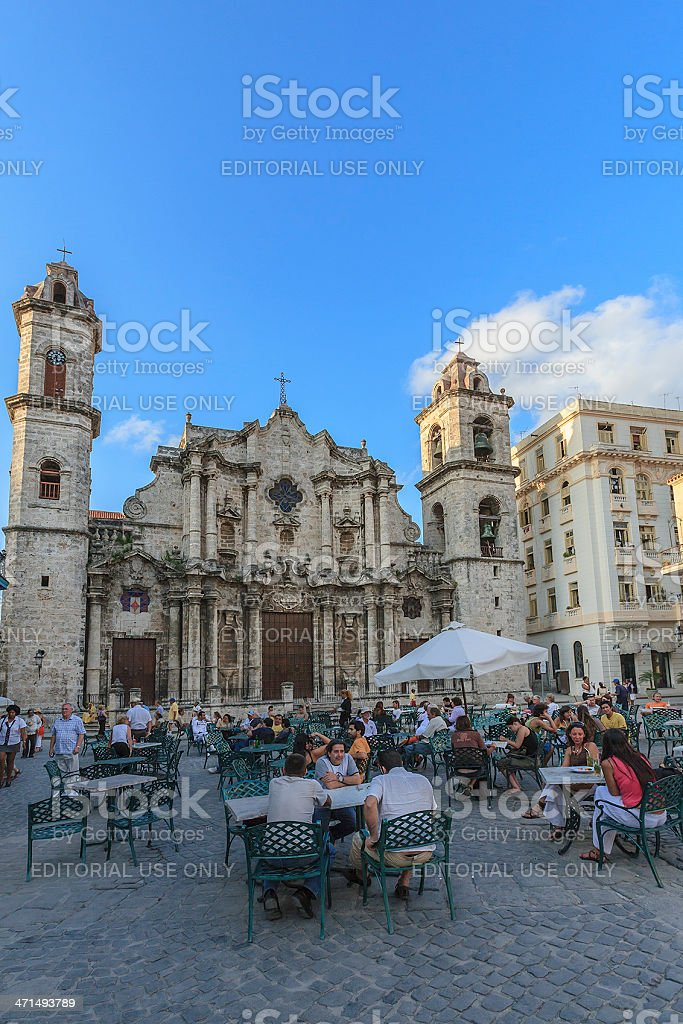 Plaza de la Catedral, Havana, Cuba royalty-free stock photo