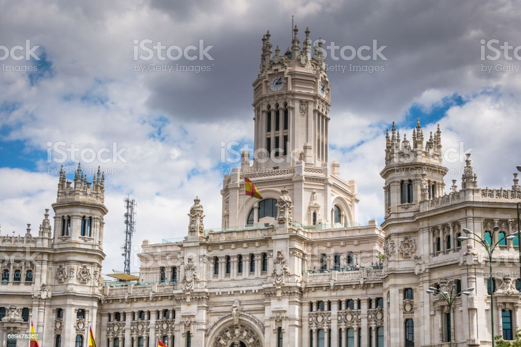 Plaza De La Cibeles Madrid Spain Stock Photo Download