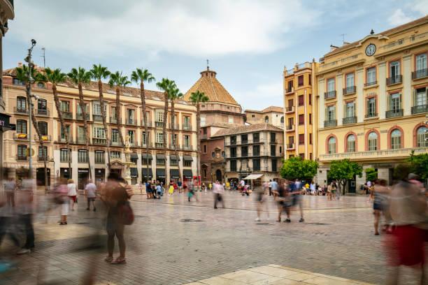 Plaza de la Constitución in Malaga, Andalusia, Spain stock photo