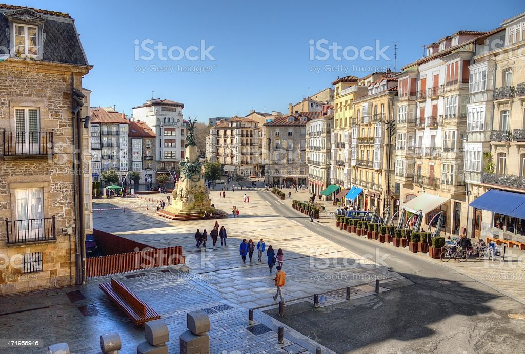 Plaza de la Virgen Blanca royalty-free stock photo