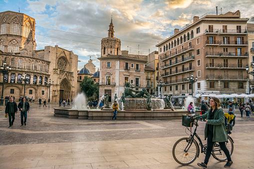 Plaza de la Virgen in Valencia, Spain