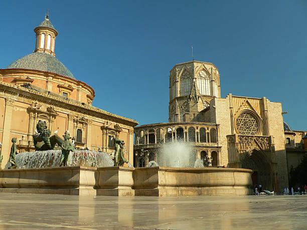 plaza de la virgen - römisch 6 stock-fotos und bilder