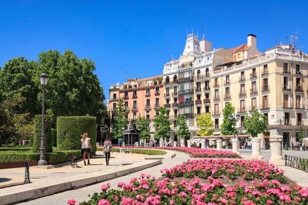 Plaza de Oriente in Madrid, Spain stock photo