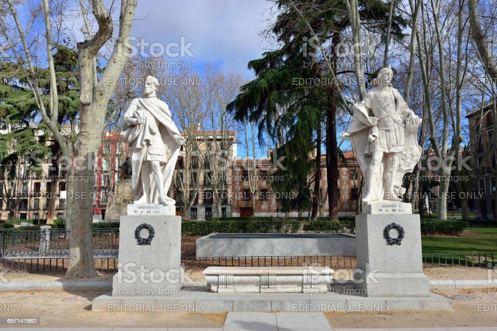 Plaza de Oriente, Madrid stock photo