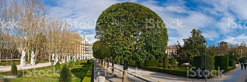Plaza de Oriente Madrid stock photo