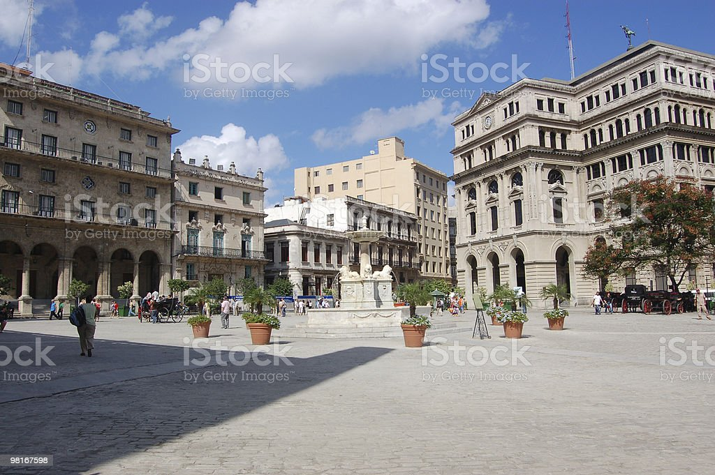 Plaza de San Francisco, L'Avana foto stock royalty-free