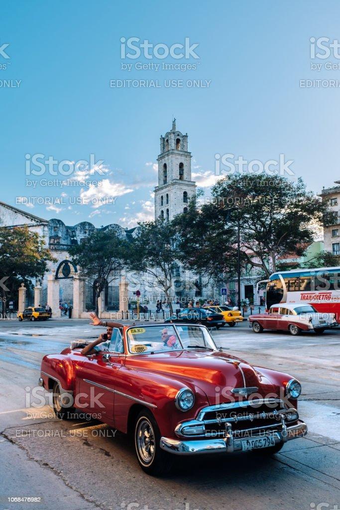 Plaza de San Francisco square in Old Havana, Cuba stock photo