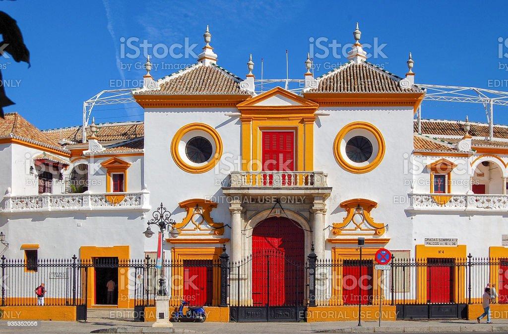 Plaza de Toros de la Maestranza - Seville stock photo