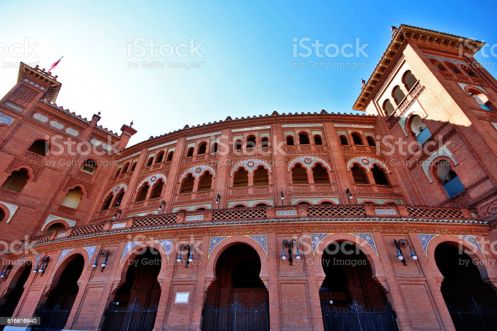 Plaza de Toros de Las Ventas (Las Ventas del Espiritu Santo), a famous bullring located in Madrid, Spain stock photo