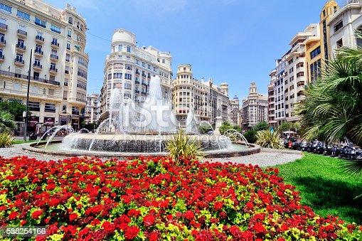 Plaza del Ayuntamiento or Town Hall Square of Valencia, Spain