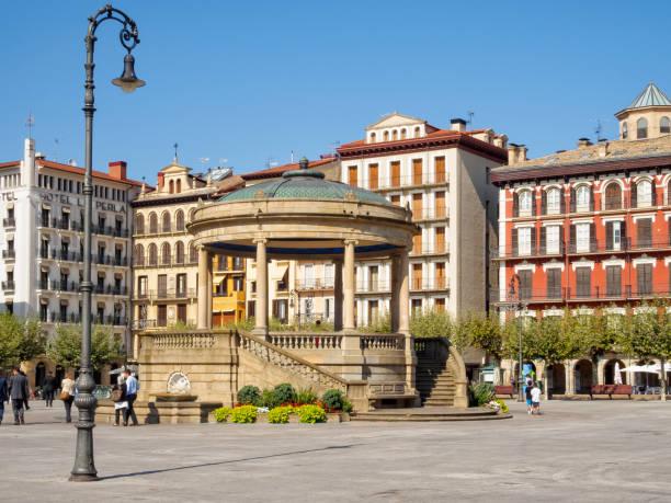 Plaza del Castillo - Pamplona stock photo