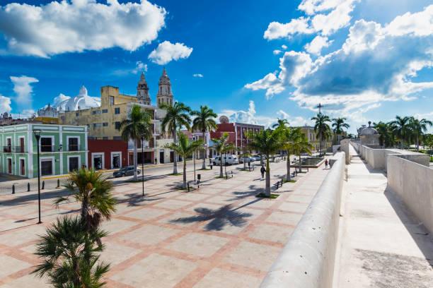 Plaza del Patrimonio, Campeche stock photo