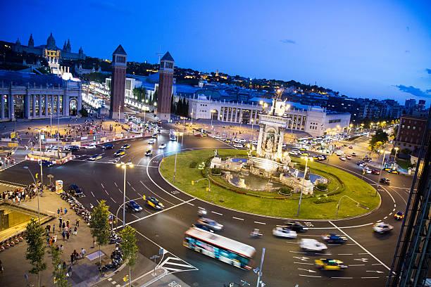Plaza España Barcelona stock photo