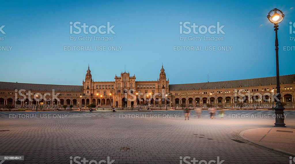Plaza España, Seville royalty-free stock photo