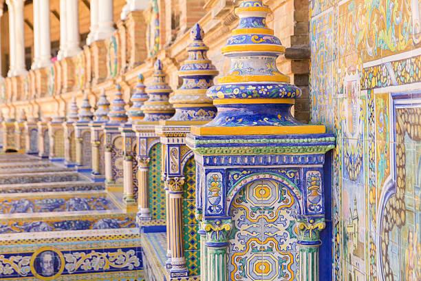 plaza espana seville ceramic decoration – Foto