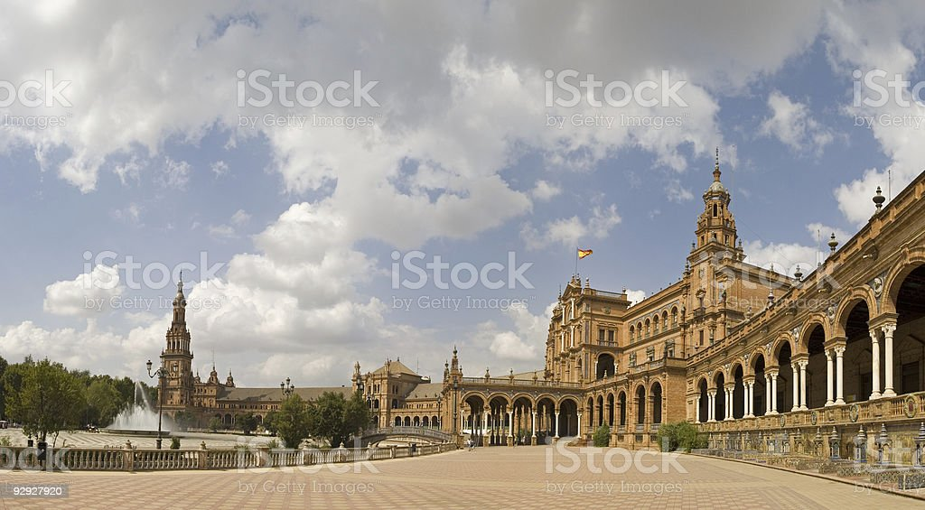 Plaza Espana, Sevilla royalty-free stock photo