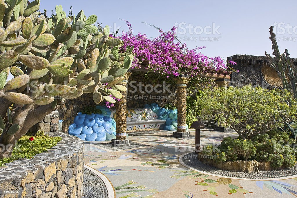 Plaza Glorieta at La Palma, Canary Islands royalty-free stock photo