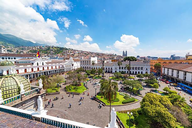Plaza Grande View in Quito stock photo