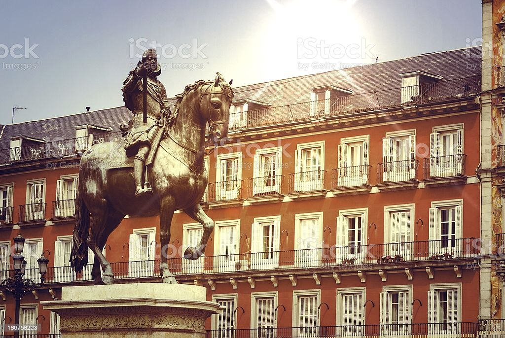 plaza in the city of Madrid royalty-free stock photo