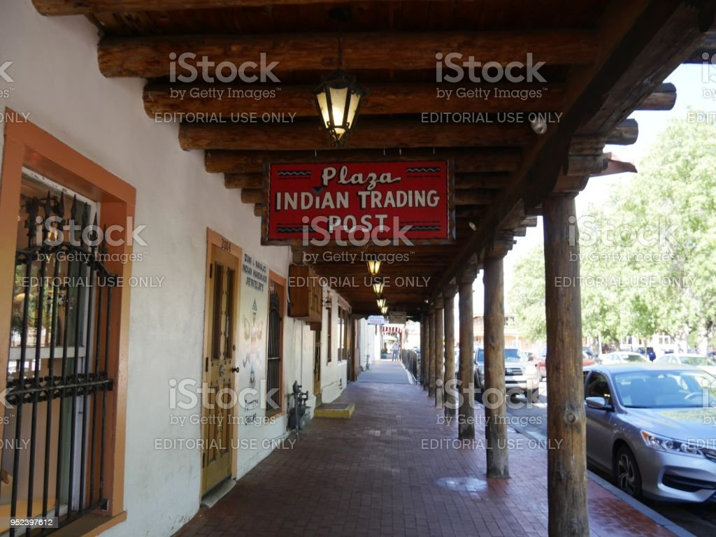 Plaza Indian Trading Post at the Old Town in Albuquerque stock photo