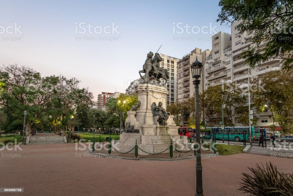 Plaza Italia in Palermo - Buenos Aires, Argentina stock photo
