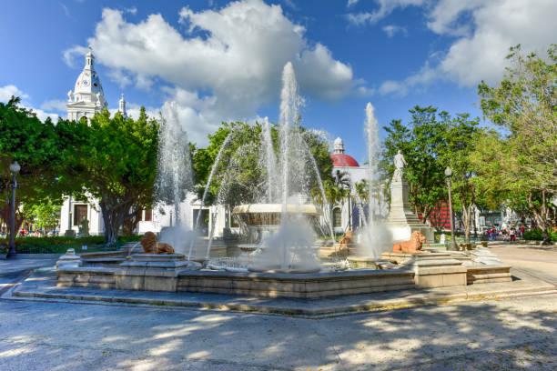 Plaza Las Delicias-Ponce, Puerto Rico stock photo
