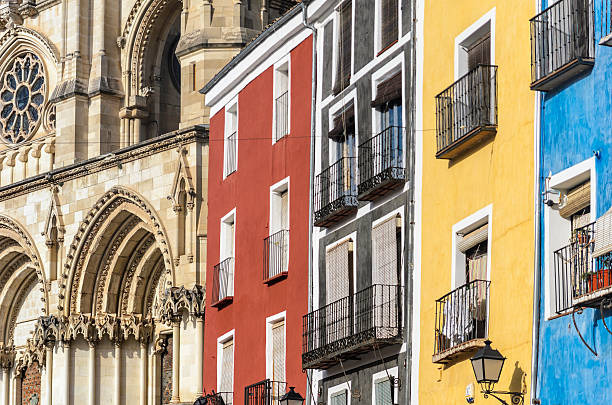 Plaza Mayor de Cuenca stock photo