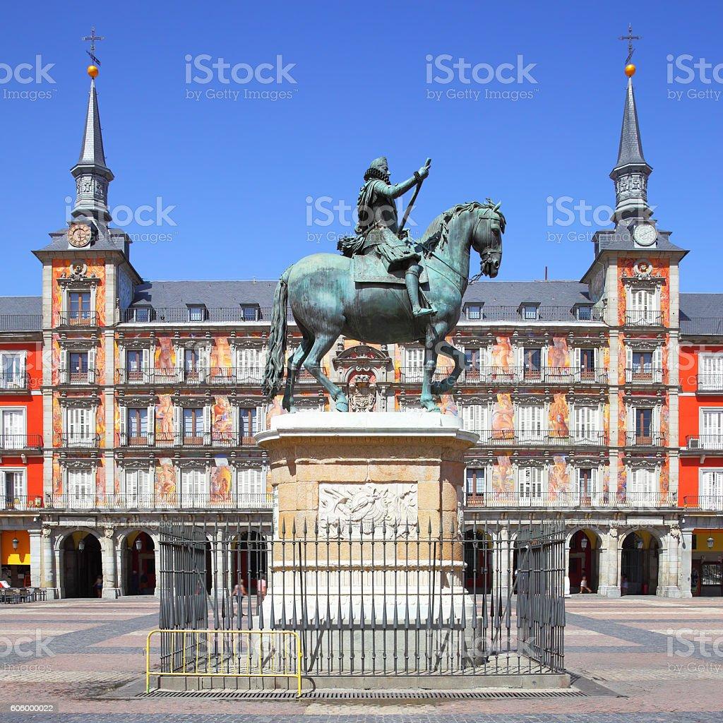 Architettura A Madrid plaza mayor madrid - fotografie stock e altre immagini di