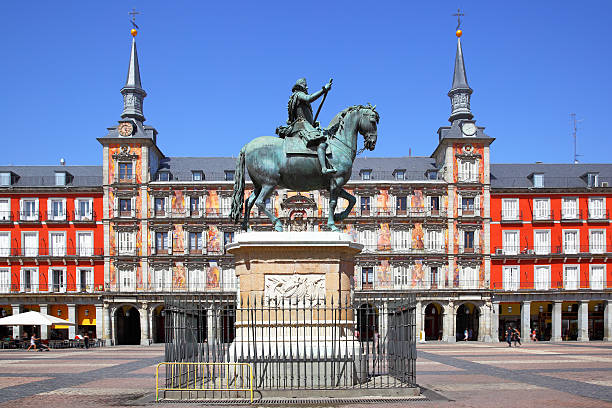 Plaza Mayor in Madrid stock photo