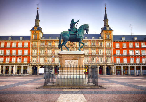 Plaza Mayor In Madrid, Spain stock photo