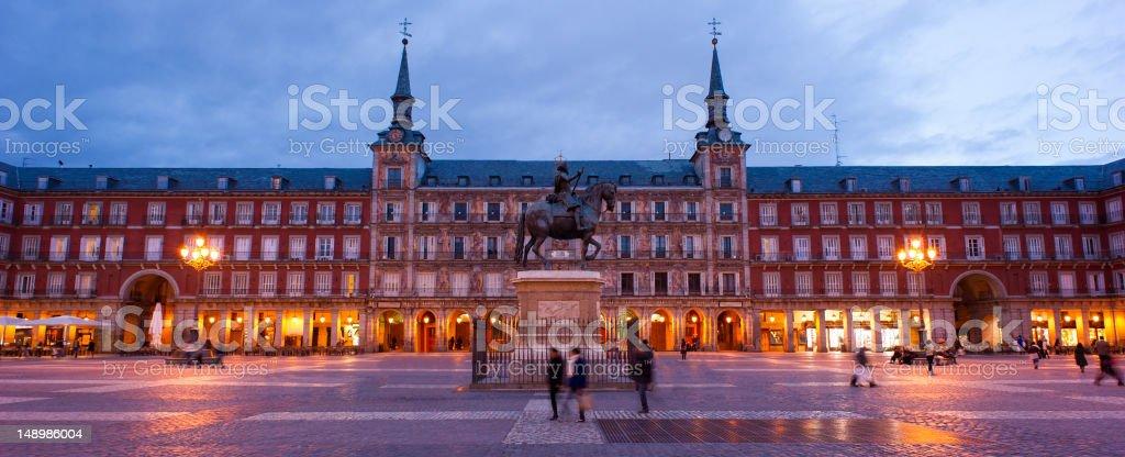 Plaza Mayor in Madrid, Spain Madrid's historic square the Plaza Mayor Architecture Stock Photo