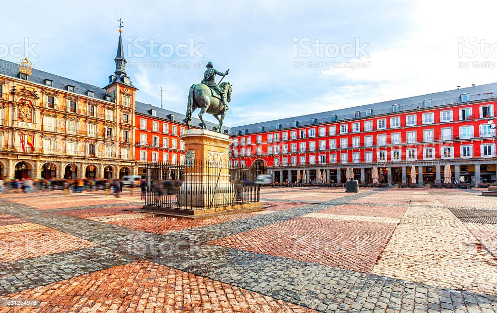 Plaza Mayor  in Madrid, Spain.