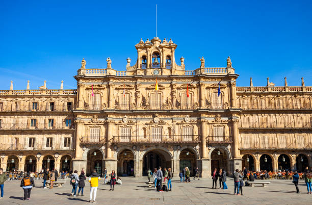 Plaza Mayor In Salamanca, Spain stock photo