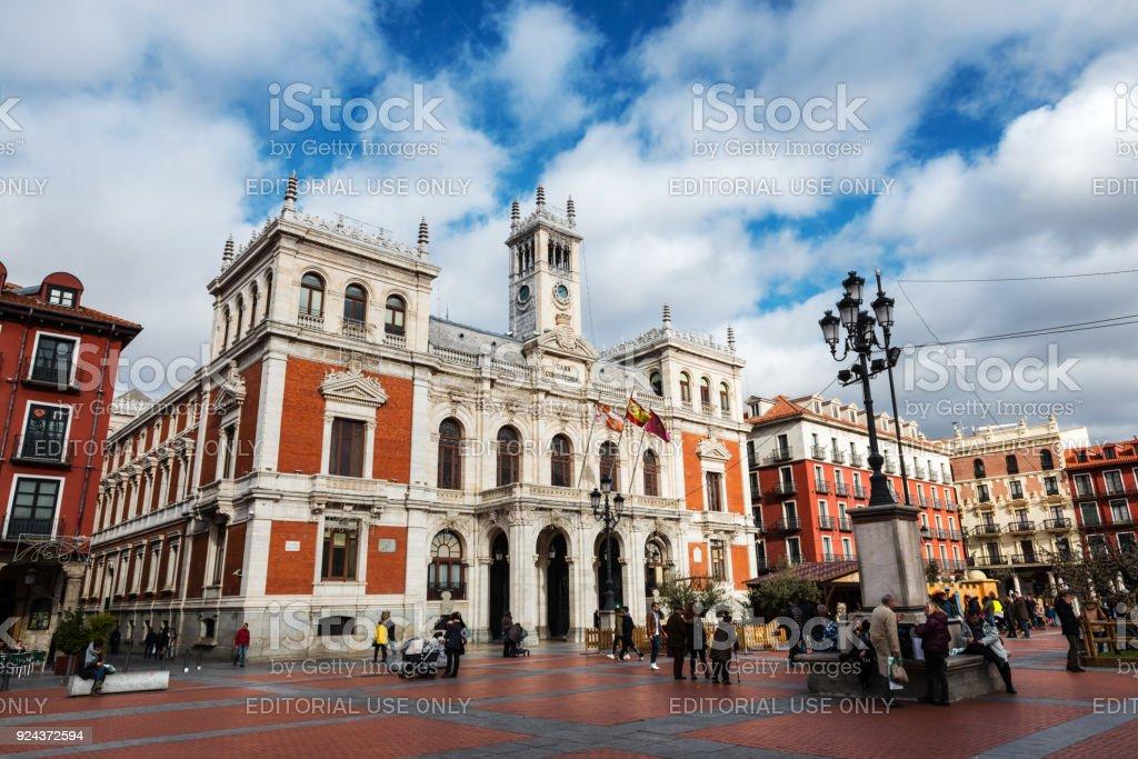 Plaza Mayor in Valladolid stock photo