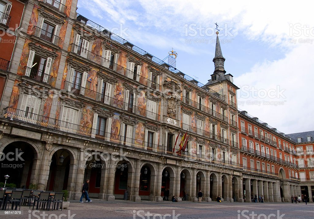 Plaza Mayor, Madrid foto stock royalty-free