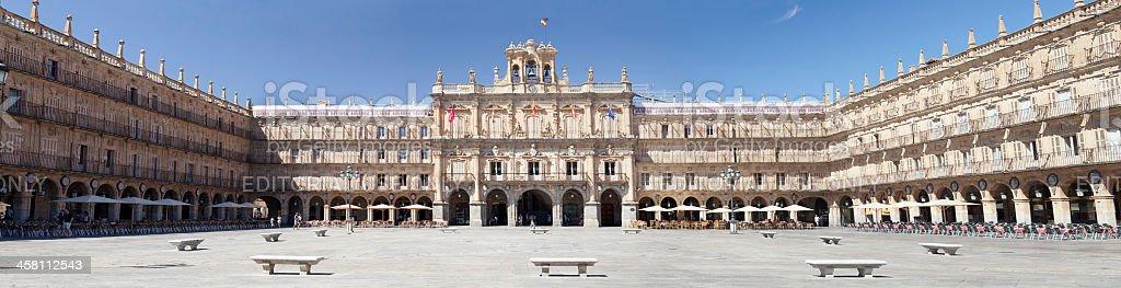 Plaza Mayor of Salamanca (Spain) stock photo