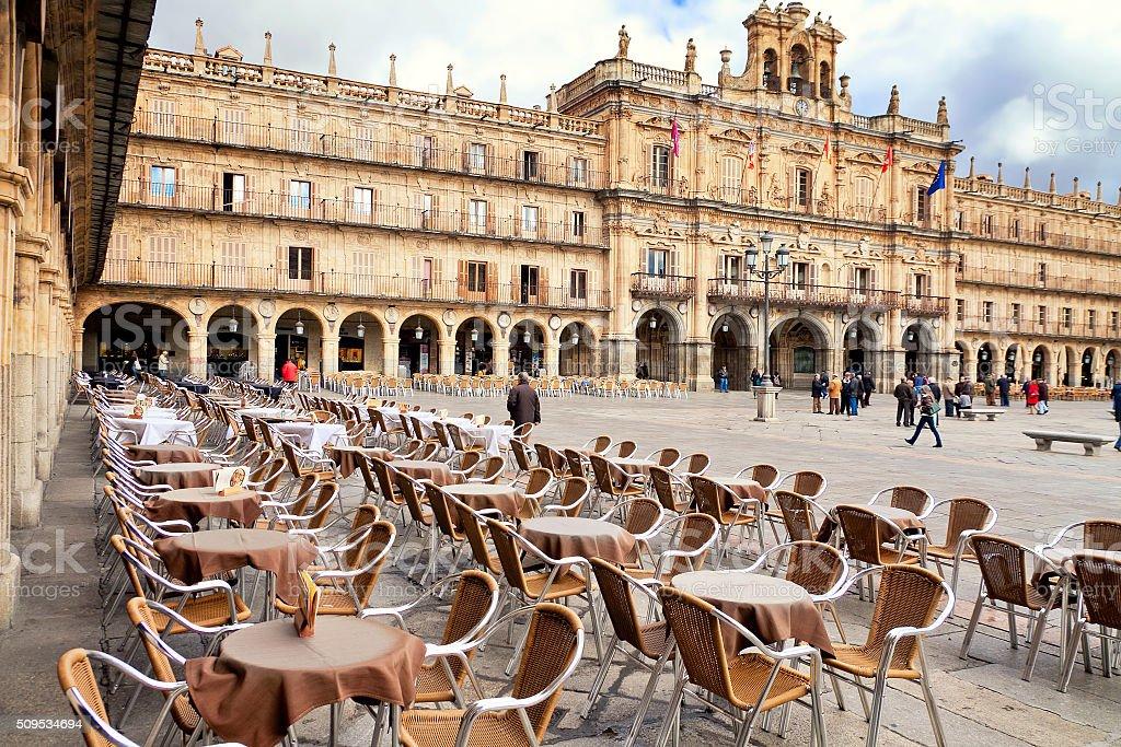 Plaza Mayor, Salamanca, Spain stock photo