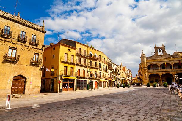 Plaza Mayor Square, Ciudad Rodrigo, Salamanca stock photo