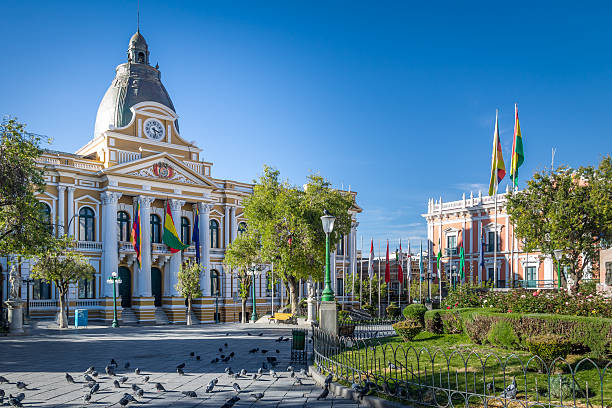 Plaza Murillo and Bolivian Government  Palace - La Paz, Bolivia – Foto