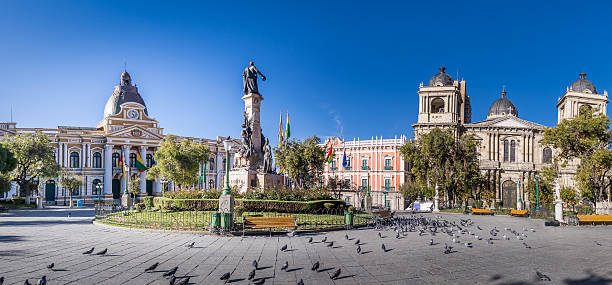 Plaza Murillo, Government Palace and Cathedral - La Paz, Bolivia – Foto