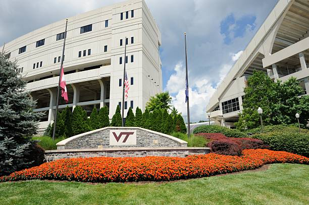 Plaza near Lane Stadium at Virginia Tech stock photo